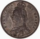 Halfcrown 1888: Photo Coin - Halfcrown, Queen Victoria, Great Britain, 1888