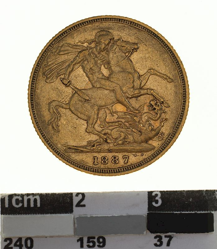Sovereign 1887 St George, Jubilee head: Photo Coin - Sovereign, New South Wales, Australia, 1887