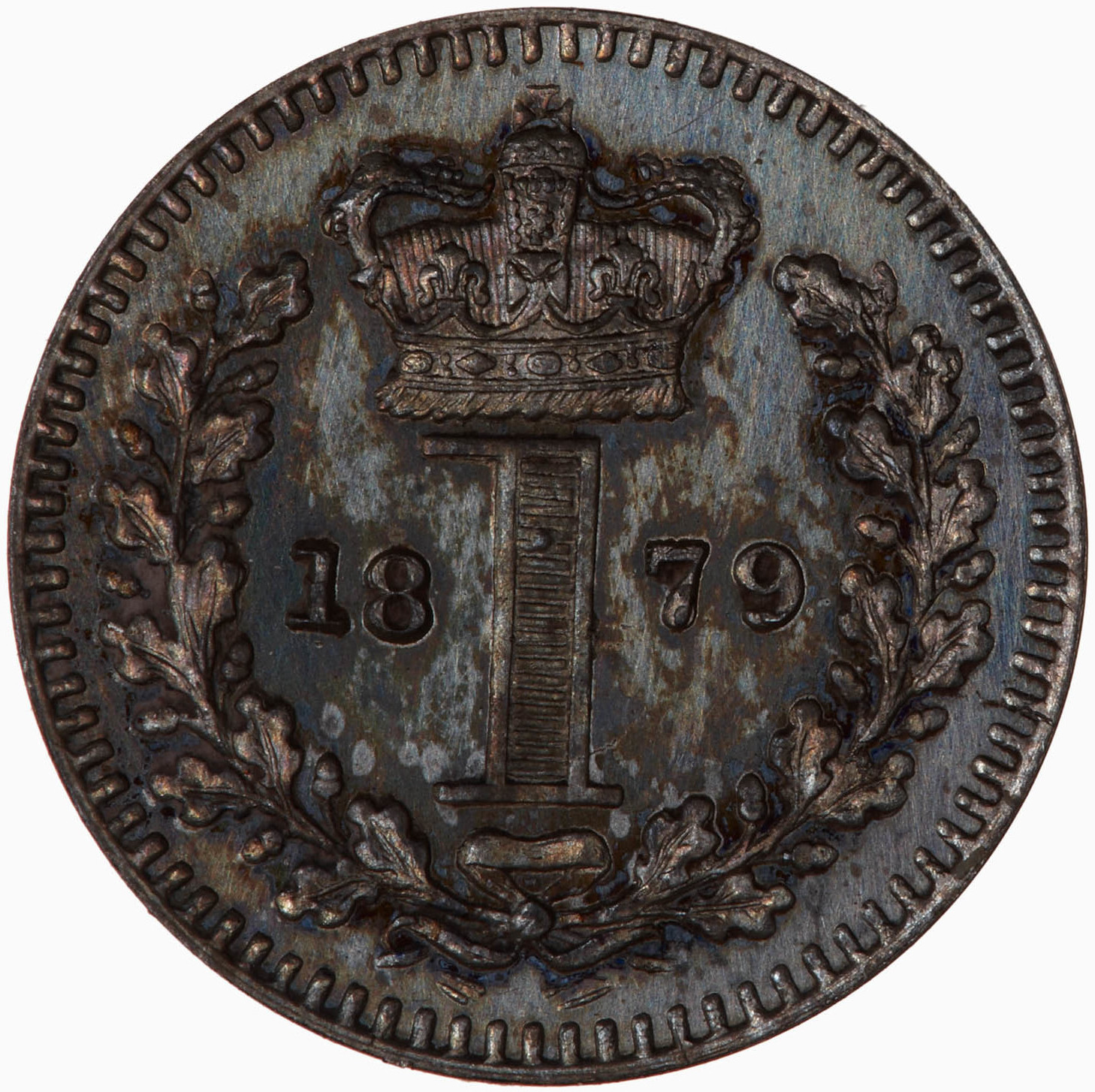 Penny 1879 (Maundy): Photo Coin - Penny (Maundy), Queen Victoria, Great Britain, 1879