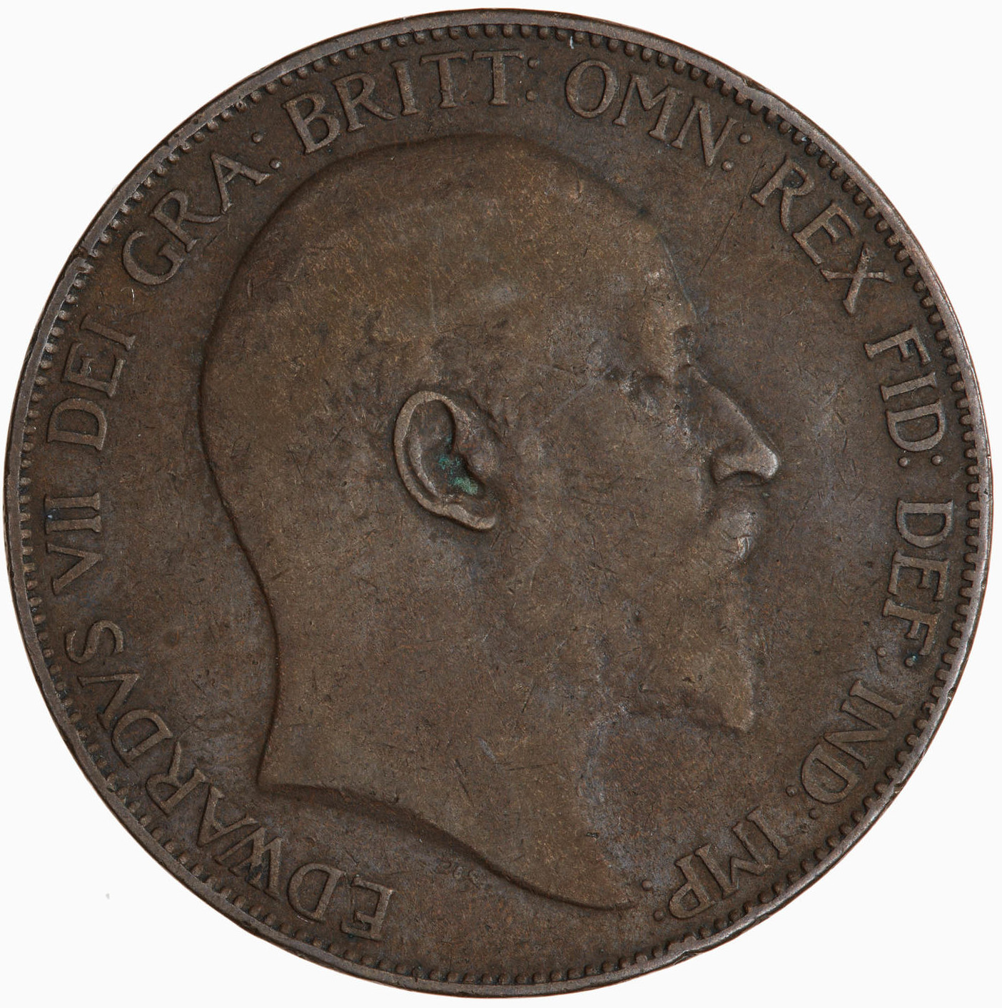 Penny 1905: Photo Coin - Penny, Edward VII, Great Britain, 1905