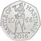 United Kingdom / Fifty Pence 2019 Battle of Hastings (NCLT) - reverse photo