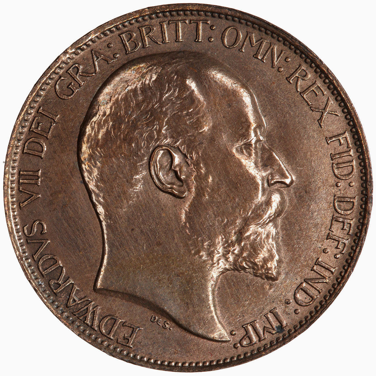 Halfpenny 1902: Photo Coin - Halfpenny, Edward VII, Great Britain, 1902