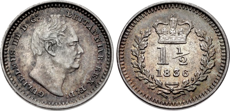 Three Halfpence 1836: Photo Great Britain 1836 1-1/2 pence