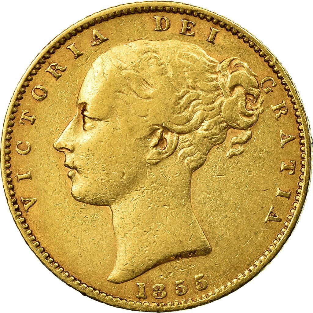 Sovereign 1855: Photo Coin, Great Britain, Sovereign, 1855