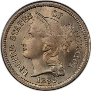 United States / Three Cents 1882 - obverse photo