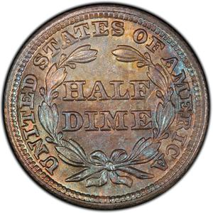 United States / Half Dime 1847 Seated Liberty - reverse photo