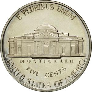 United States / Five Cents 1989 Jefferson Nickel - reverse photo