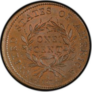 United States / One Cent 1793 Flowing Hair, Wreath - reverse photo