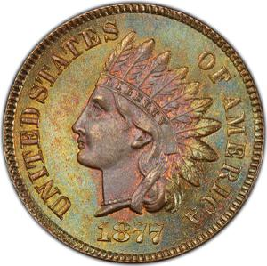 United States / One Cent 1877 Indian Head - obverse photo
