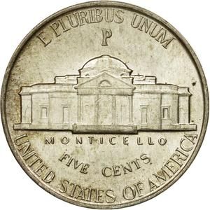 United States / Five Cents 1943 Jefferson Nickel - reverse photo