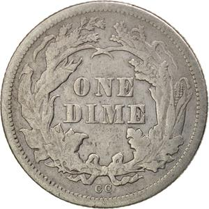 United States / One Dime 1876 Seated Liberty - reverse photo