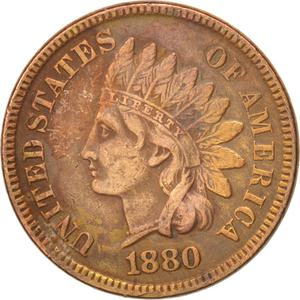 United States / One Cent 1880 Indian Head - obverse photo