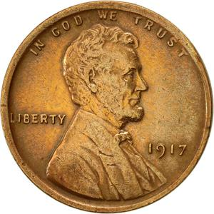 United States / One Cent 1917 Wheat Penny - obverse photo