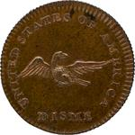 United States / Disme 1792 / Copper, Reeded Edge - reverse photo