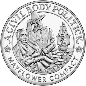 United States / Mayflower 400th Anniversary Silver Medal 2020 - obverse photo