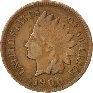 United States / One Cent 1900 Indian Head - obverse photo