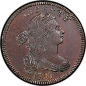 United States / One Cent 1797 Draped Bust - obverse photo