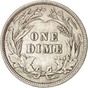 United States / One Dime 1901 Barber - reverse photo