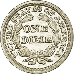 United States / One Dime 1850 Seated Liberty - reverse photo