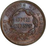 United States / One Cent 1837 Young Head / Head of 1838 - reverse photo