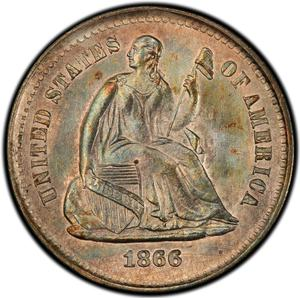 United States / Half Dime 1866 Seated Liberty - obverse photo