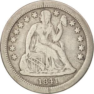 United States / One Dime 1841 Seated Liberty - obverse photo
