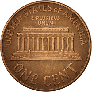 United States / One Cent 1960 Lincoln Memorial - reverse photo