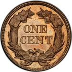 United States / One Cent 1857 Flying Eagle / Proof - reverse photo