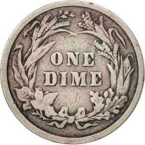 United States / One Dime 1898 Barber - reverse photo