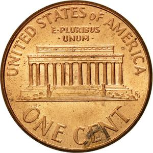 United States / One Cent 2007 Lincoln Memorial - reverse photo