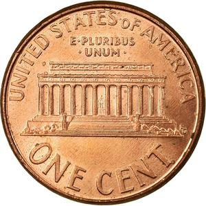 United States / One Cent 2005 Lincoln Memorial - reverse photo