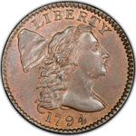 United States / One Cent 1794 Liberty Cap / Head of 1795 - obverse photo