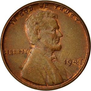 United States / One Cent 1947 Wheat Penny - obverse photo
