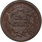 United States / One Cent 1846 Braided Hair / Tall date - reverse photo