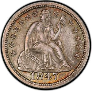 United States / One Dime 1847 Seated Liberty - obverse photo