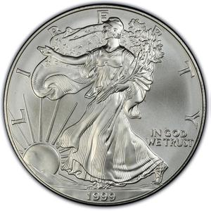United States / Silver Ounce 1999 American Eagle - reverse photo