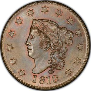 United States / One Cent 1818 Matron Head - obverse photo