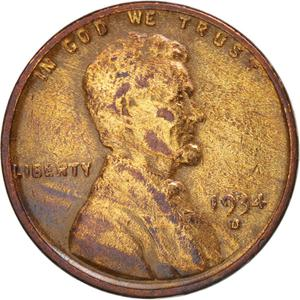 United States / One Cent 1934 Wheat Penny - obverse photo