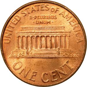 United States / One Cent 2002 Lincoln Memorial - reverse photo
