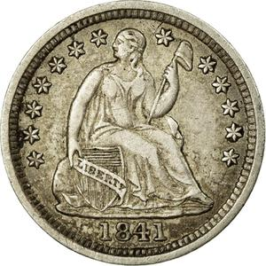 United States / Half Dime 1841 Seated Liberty - obverse photo