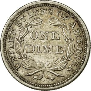 United States / One Dime 1853 Seated Liberty - reverse photo