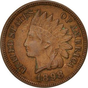 United States / One Cent 1898 Indian Head - obverse photo