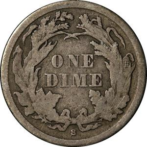 United States / One Dime 1866 Seated Liberty - reverse photo