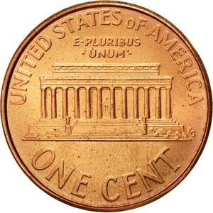 United States / One Cent 2008 Lincoln Memorial - reverse photo
