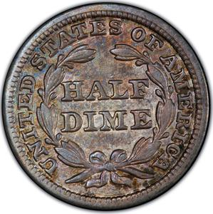 United States / Half Dime 1846 Seated Liberty - reverse photo
