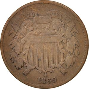 United States / Two Cents 1869 - obverse photo
