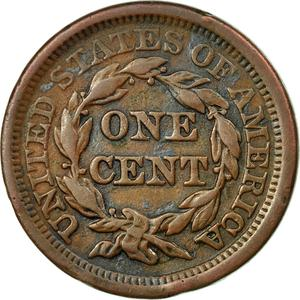 United States / One Cent 1854 Braided Hair - reverse photo