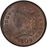 United States / Half Cent 1809 Classic Head / Circle in 0 - obverse photo