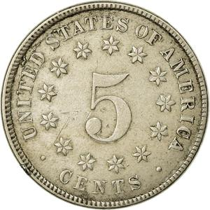 United States / Five Cents 1882 Shield Nickel - reverse photo