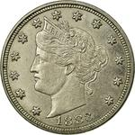 United States / Five Cents 1883 Liberty Head Nickel / No CENTS - obverse photo